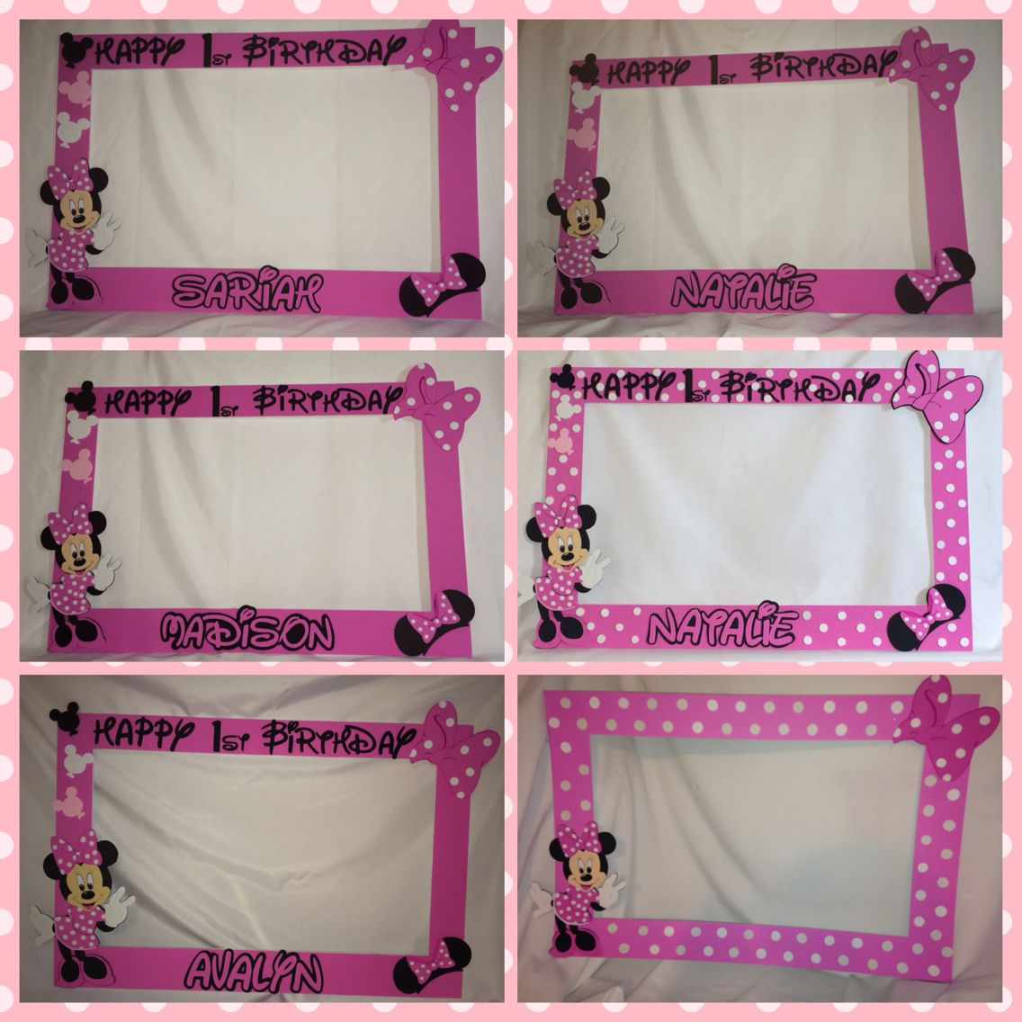 Minnie Mouse Photo Booth Frame Minnie Mouse Photo Booth