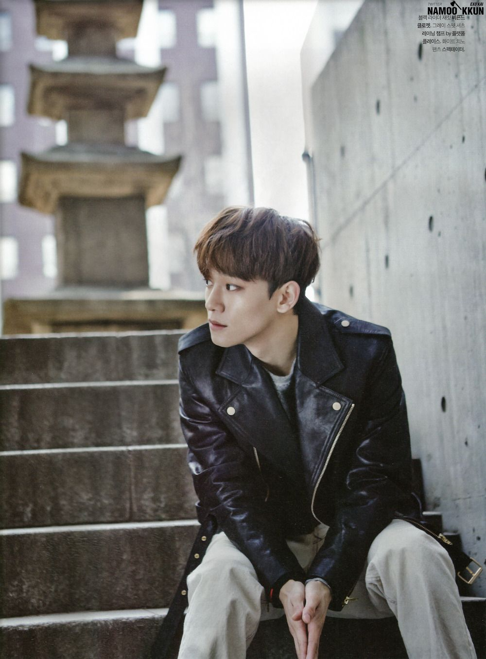 Leather Jacket Chen Of Exo For The Celebrity January 2015