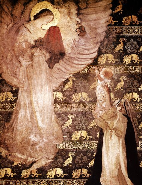 Galahad Receiving The Visit Of An Angel