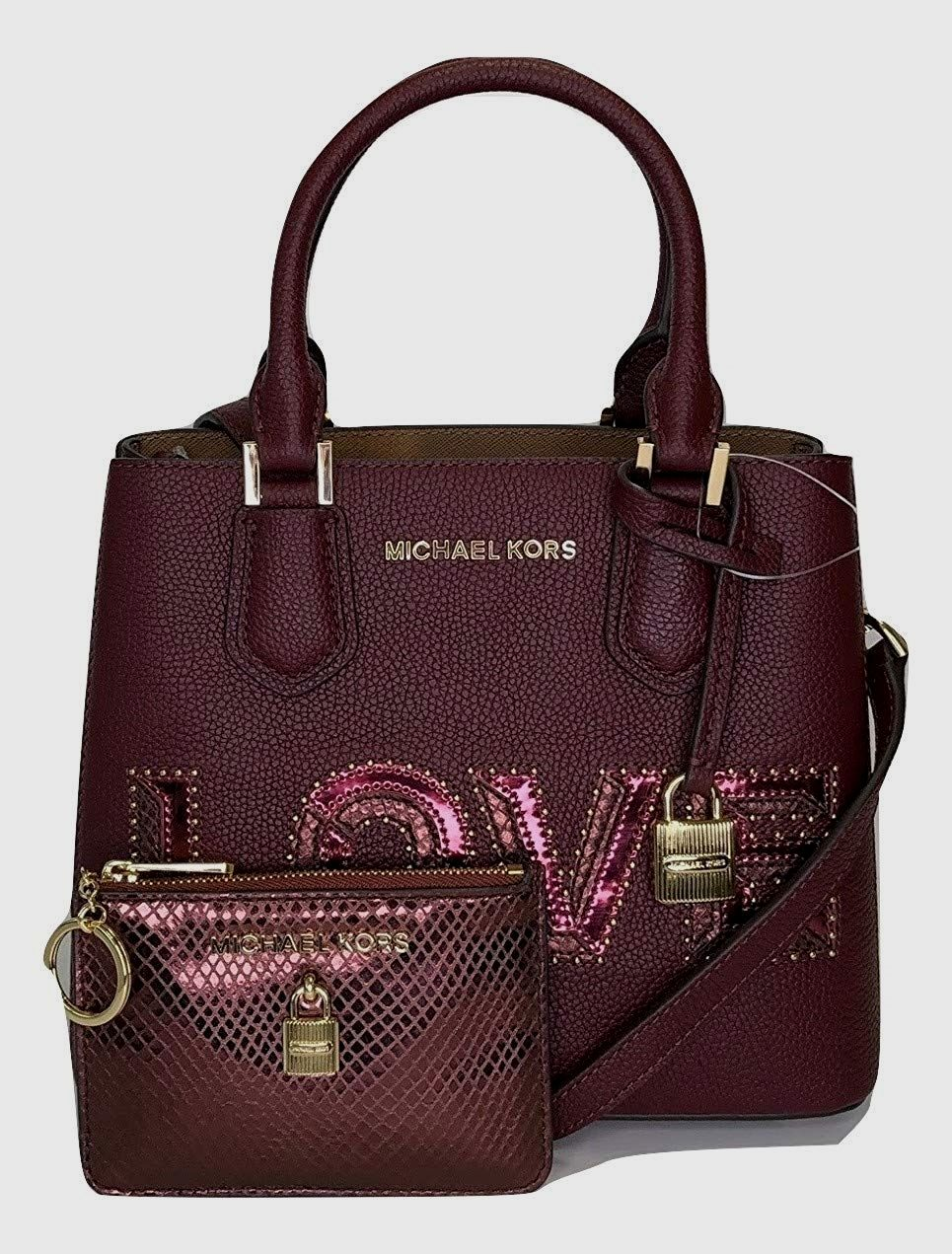 aeaf89eb26bba2 New MICHAEL Michael Kors Sofia MD NS Satchel bundled with Michael Kors SM  Card Case Carryall Wallet Women Bag. [$318.00 - 328.00] allfashi…