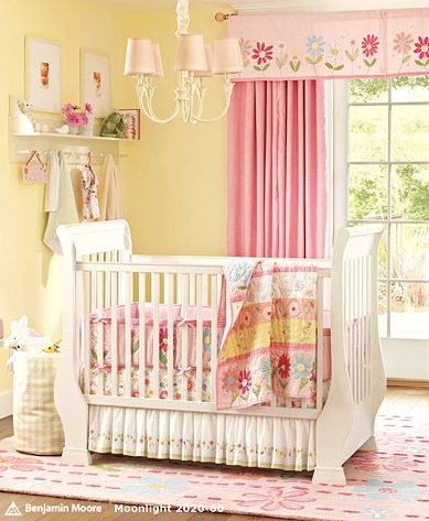 Yellow And Pink Nursery Room From Pottery Barn I Love The Yellow