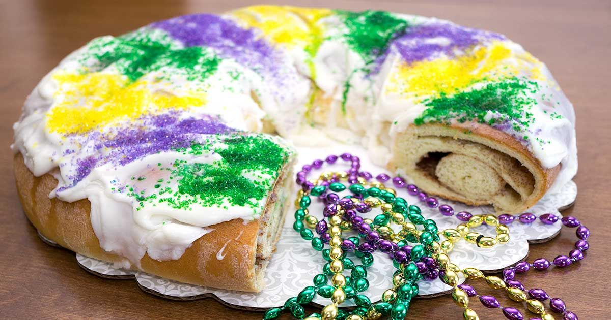 Mardi Gras King Cake Bread Machine Recipe King Cake Mardi