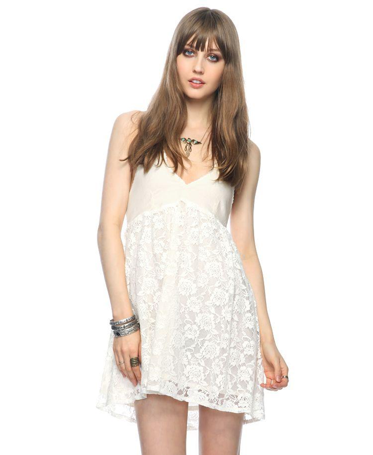 Fashion Beauty Internships: Lace Overlay Halter Dress