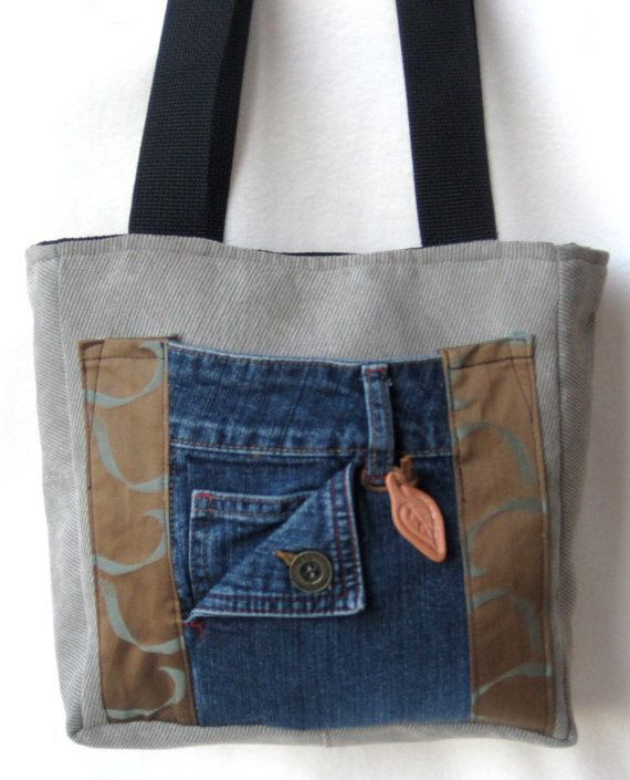 Items similar to Tote Bag Teal Ochre Swirl Denim Organizer Mocha Black on Etsy – Boda fotos