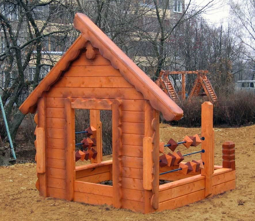 Superior Песочница «Счеты» · Play StructuresWooden HousesSandboxWood ...