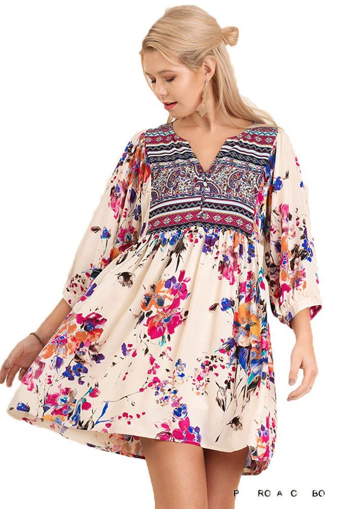 fd4ee5ada9a Umgee USA Floral Flowy Dress in 2019 | Shoptiques Boutique Products | Boho  floral dress, Flowy floral dress, Boho style dresses