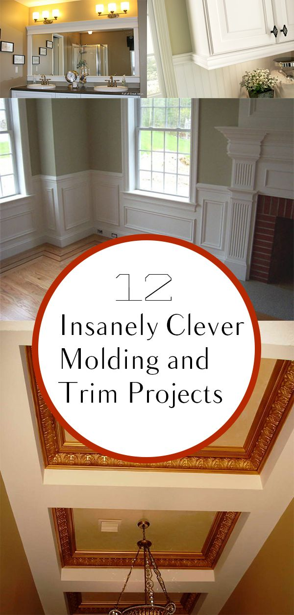 12 Insanely Clever Molding And Trim Projects: Get Some Fresh Ideas On How  To Beautify Your Home With These Relatively Simple Trim And Molding  Projects.