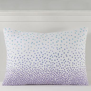 Cascading Stars Organic Flannel Duvet Cover + Sham images