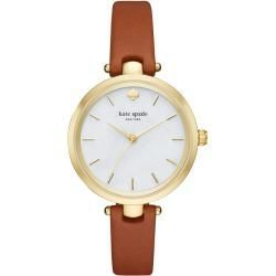 Kate Spade New York Ksw1156 Holland Skinny Strap Watch GoldLuggage in braun Uhr für Damen Kate Spadholland