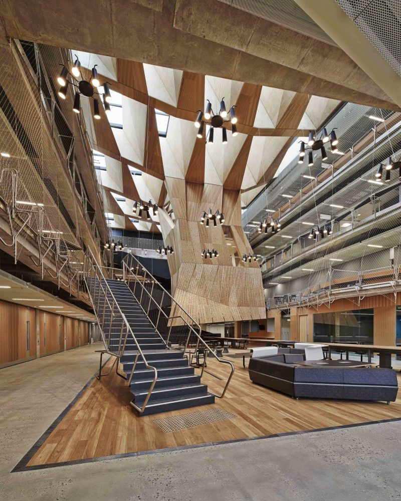 Melbourne School of Design lighting design by Electrolight | Atria ...
