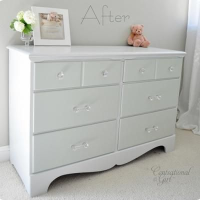 Two Tone Treasure   How to Paint Furniture   Centsational Girl    Full Step  by Step for repainting an old piece of furniture   Including cosmetic  repair. Painting funiture   Nereida gallardo   Pinterest   Dresser  Paint