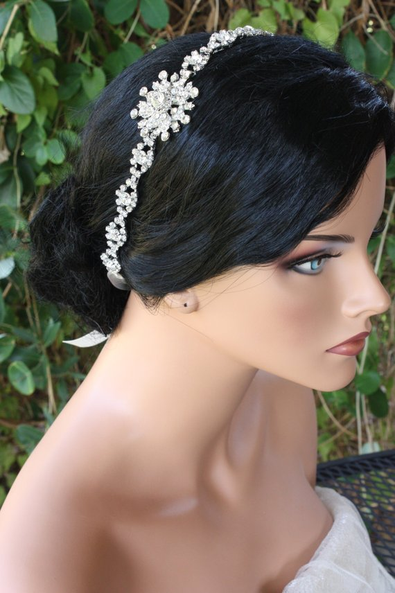SNOWFLAKE RHINESTONE HEADBAND with a Snowflake Brooch and Thick Rhinestone  Bands 35873098d65