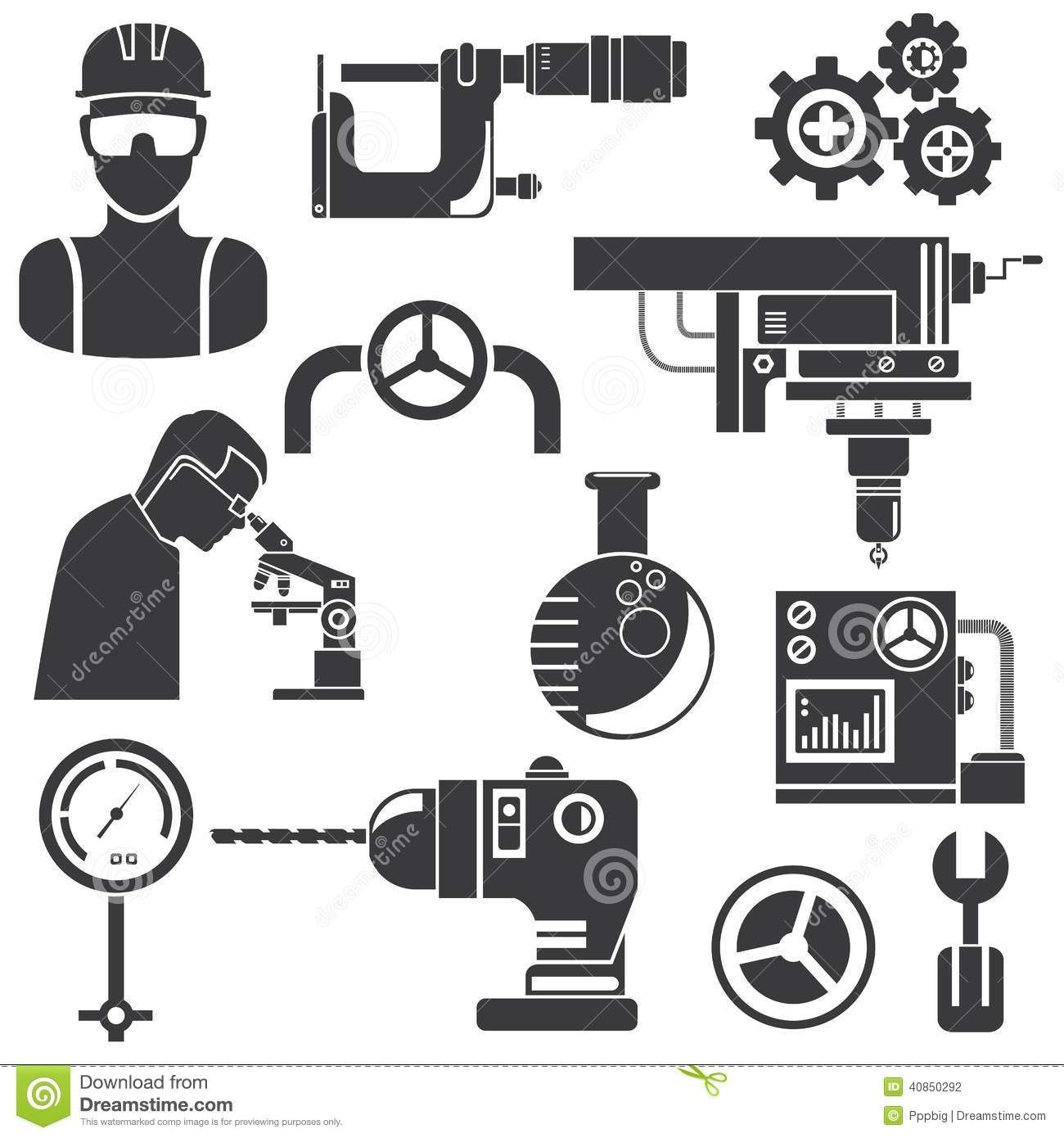 industrial-engineering-tools-icons-black-color-40850292.jpg (1300×1390)