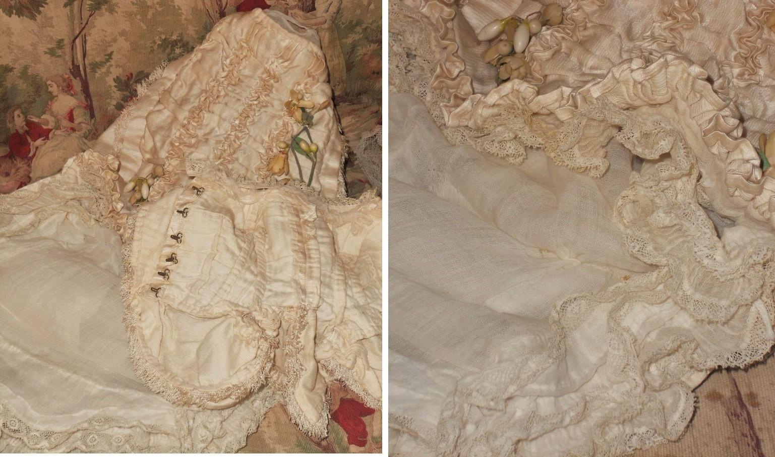 ~~~ Gorgeous Antique French Poupee Wedding Gown in Box ~~~ from whendreamscometrue on Ruby Lane