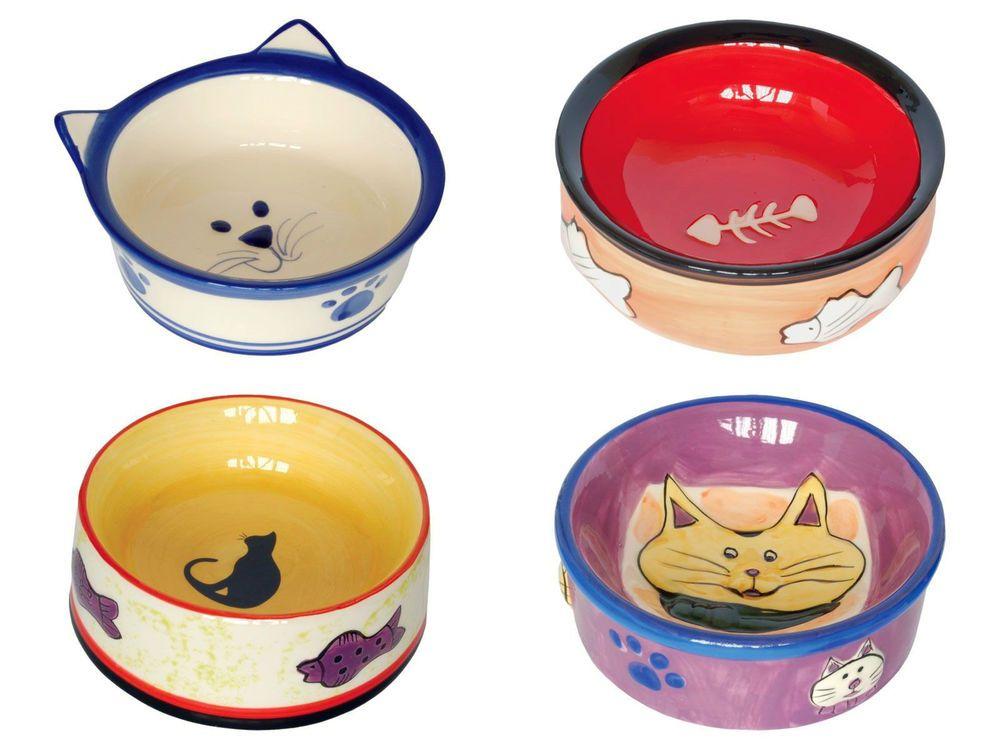 Ceramic cat bowl cat kitten feeding food water dish choice