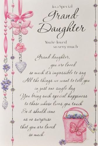 Granddaughter Birthday Card 22 Large 336x500 Pixels Verses For Cards Poems