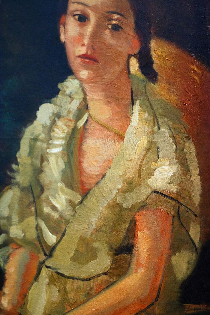 La Niece du Peintre Assise by Andre Derain (French 1880-1954)
