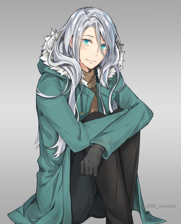 Young Victor By Annabel M Anime Boy Long Hair Anime Guy Long Hair Long White Hair