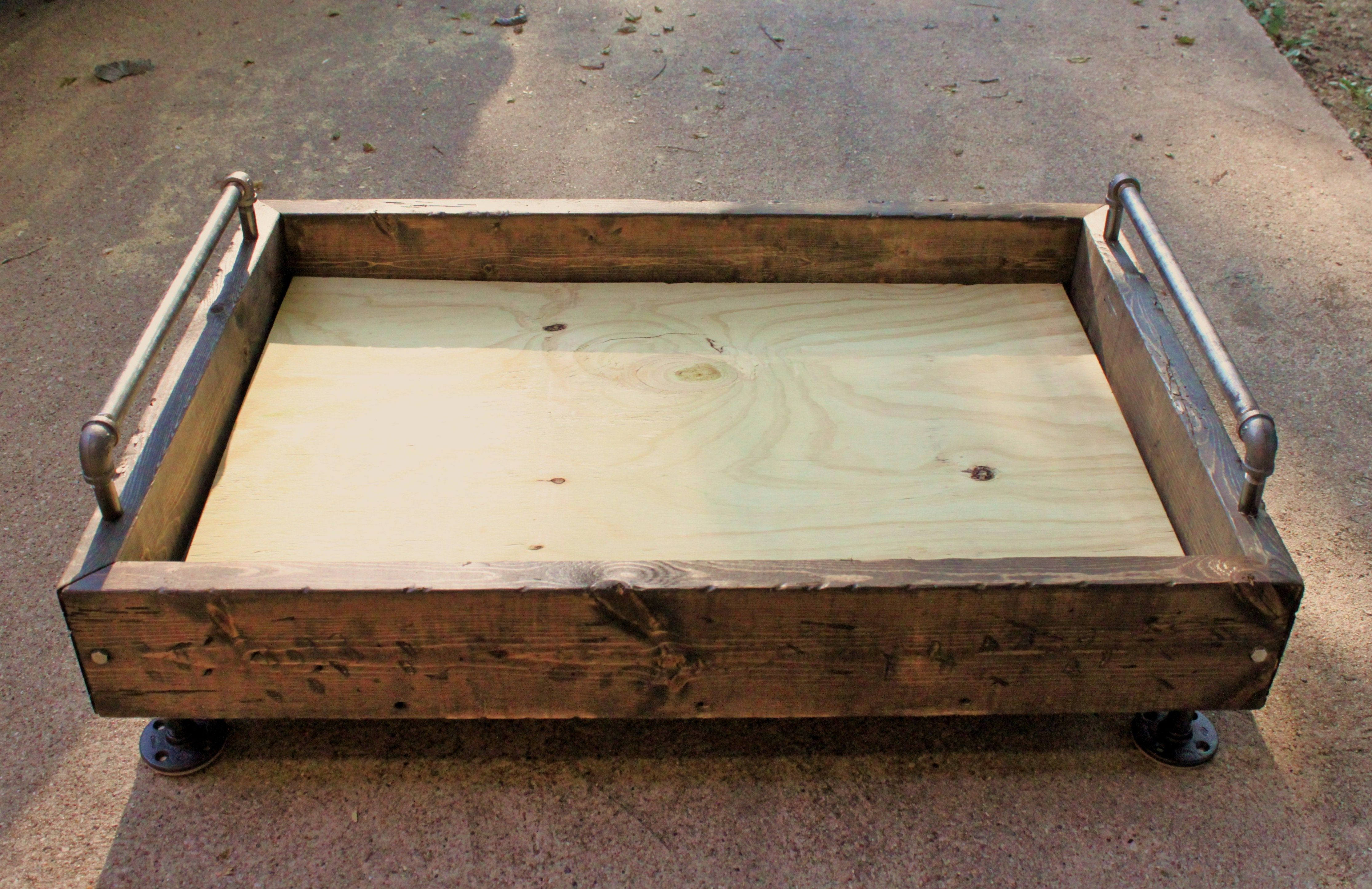 My Finished Dog Bed Box With Feet Rails And Plywood Bottom