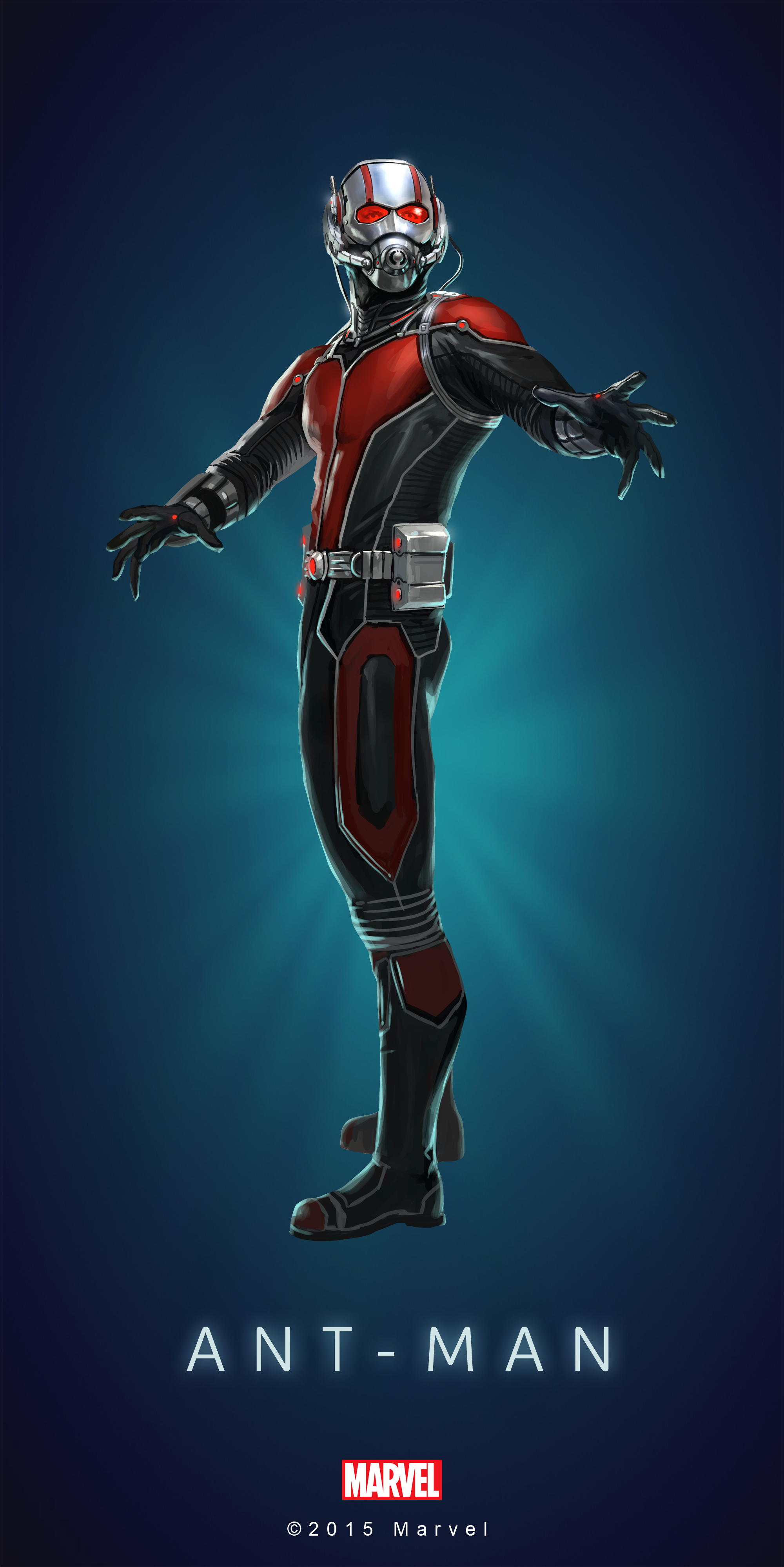 This is a graphic of Candid Marvel Heroes Ant Man