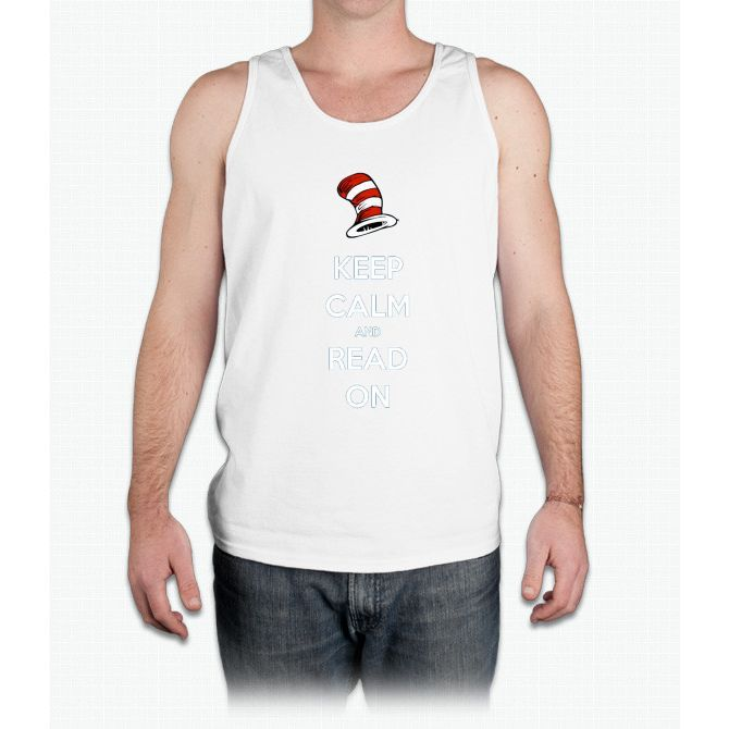 READ ACROSS AMERICA DAY - Keep Calm and Read On - Mens Tank Top