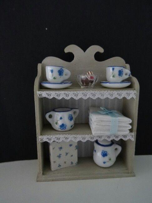 Little kitchen cabinet made by Jolanda Knoop