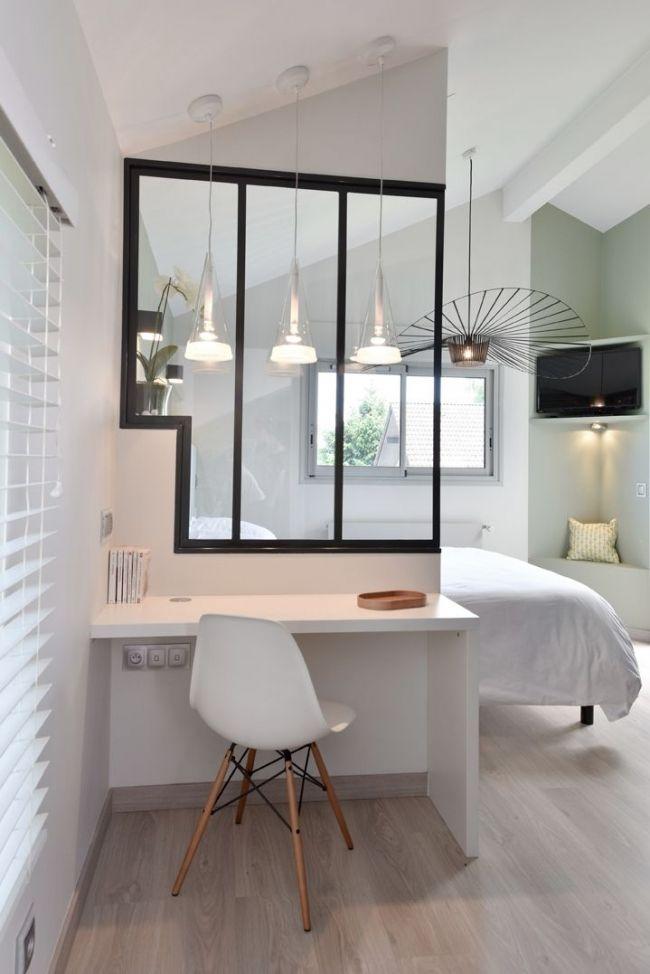 Petit espace avec verri re petits espaces pinterest for Amenager bureau dans salon