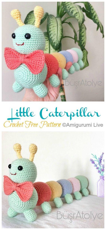 Photo of Amigurumi Little Caterpillar Crochet Free Pattern – Crochet & Knitting