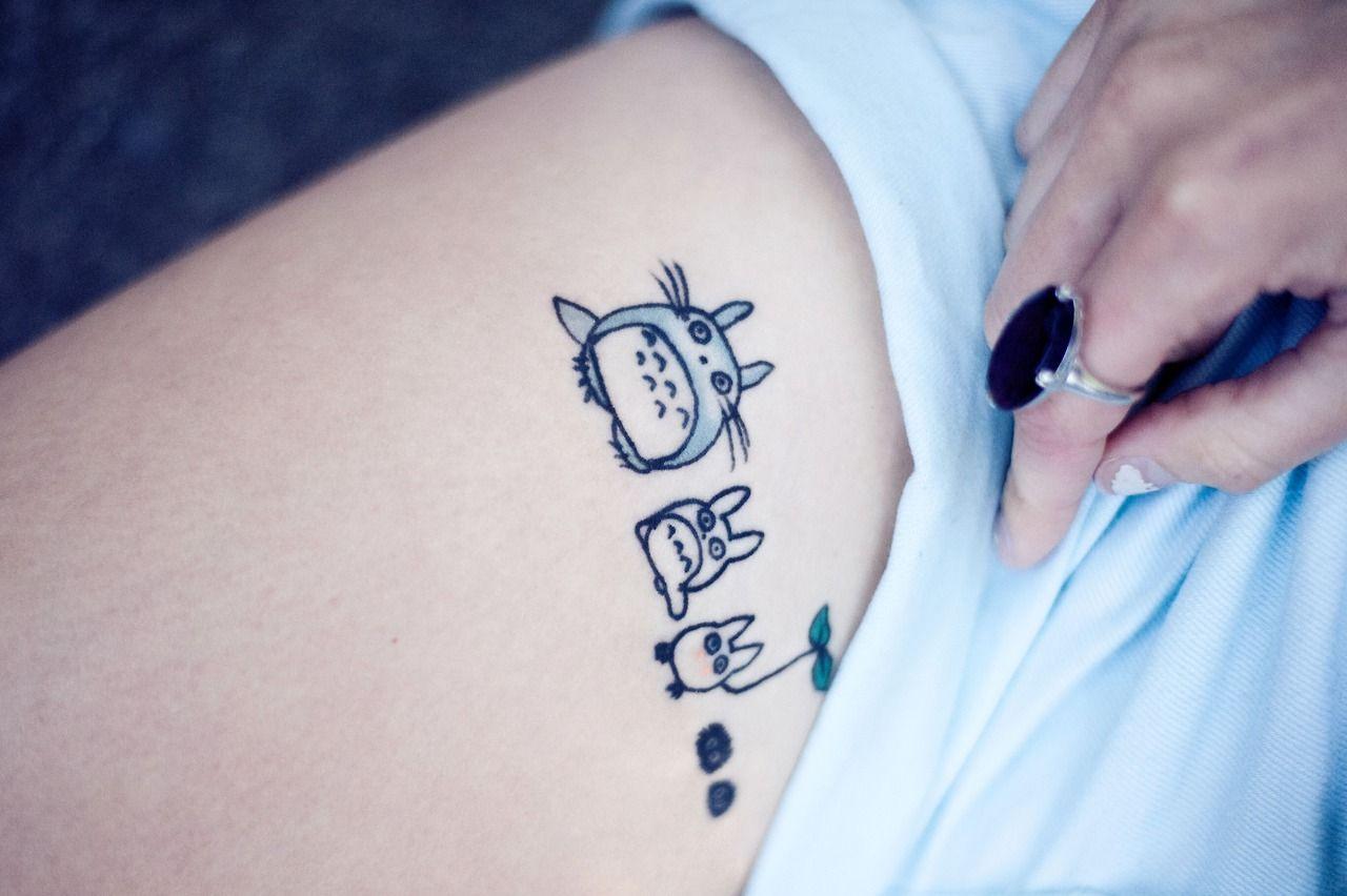 chibi totoro tattoo the image kid has it. Black Bedroom Furniture Sets. Home Design Ideas