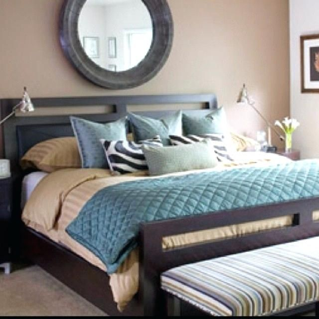 Outrageous Green And Brown Bedroom: Grey Brown Bedroom Brown And Teal Bedroom Color Scheme
