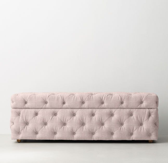 RH TEENu0027s Simone Upholstered Wide Storage Bench:Recalling 19th Century  French Designs, Our Storage Bench Is Generously Padded With Plush  Cushioning For ...