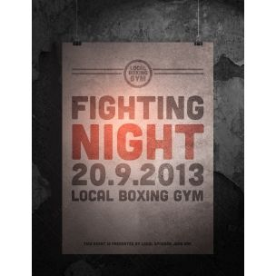 Fighting Night Photoshop Flyer  Psd Template Ideal Promotional