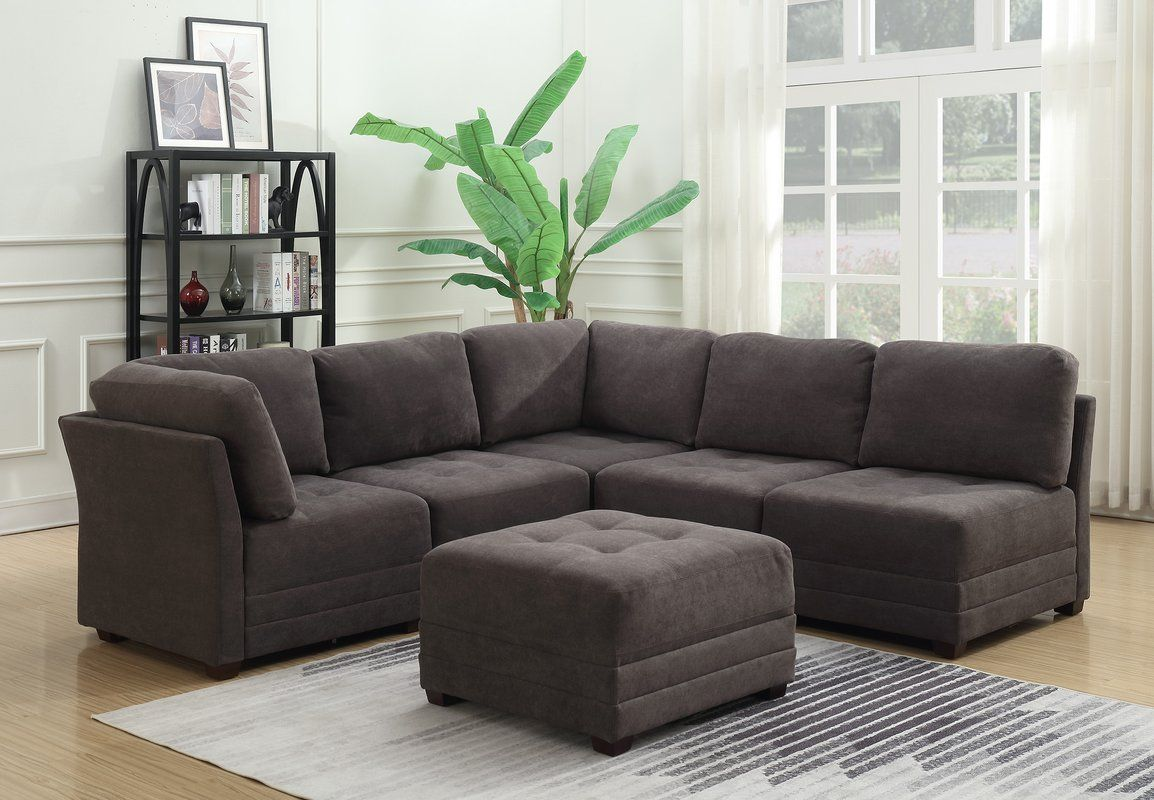Astounding Frampton Reversible Modular Sectional With Ottoman In 2019 Gmtry Best Dining Table And Chair Ideas Images Gmtryco