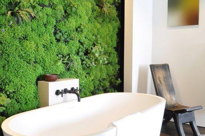Badezimmer Pflanzen ~ Vertikale begrünung im badezimmer pflanzen