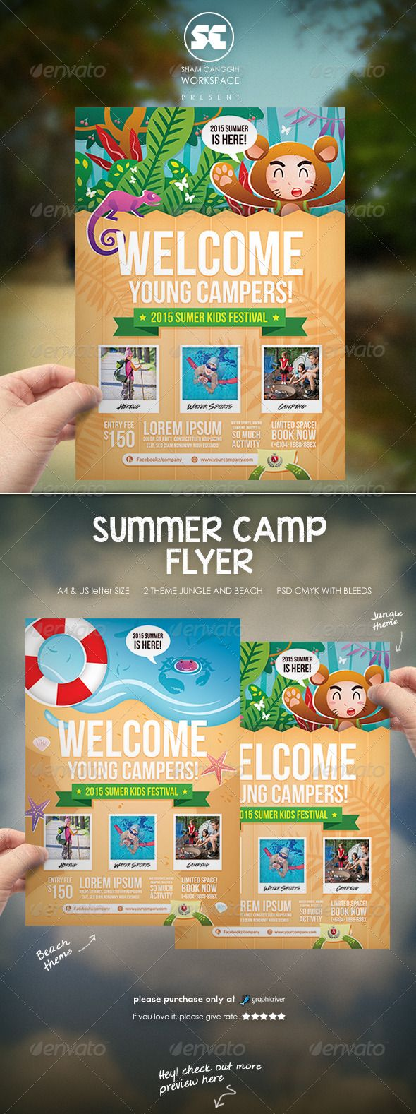 Kids Summer Camp Flyer  Camping Summer And Brochures