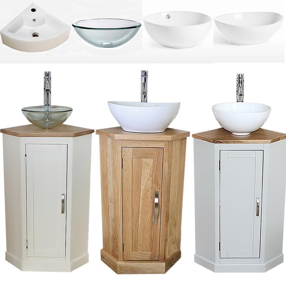Details About Bathroom Vanity Corner Unit Oak Sink Cabinet