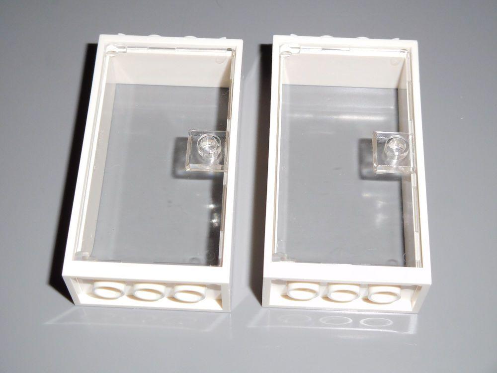 Lego X10 Light Bluish Gray Door 1x4x6 With Stud Handle For 1x4x6 Door Frame Part