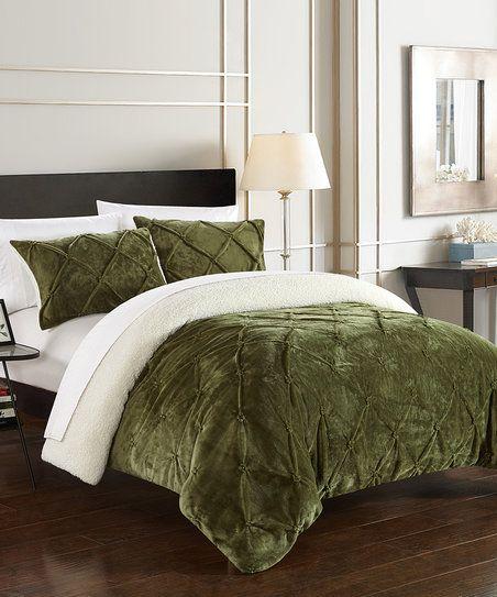 Green Eugenia Comforter Set | zulily