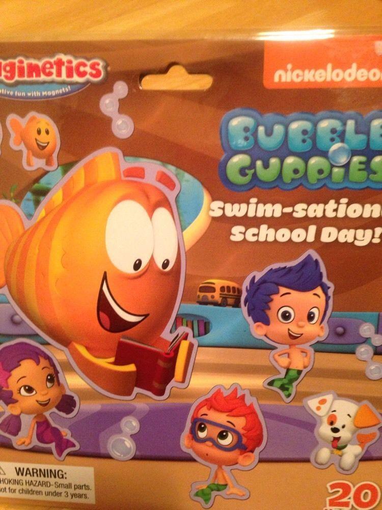 Bubble Guppies Swim Sational School Day Imaginetics Magnetic Toy Magnetic Toys School Days Toys