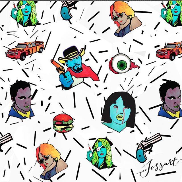 Ilustrations inspired in Tarantino Movies by #jossart & #ameandjakk  #jossartgallery