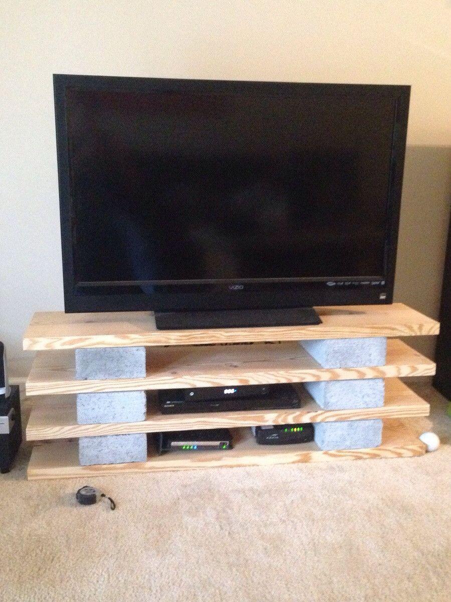 Cinder block shelves pinteres for Cinder block tv stand