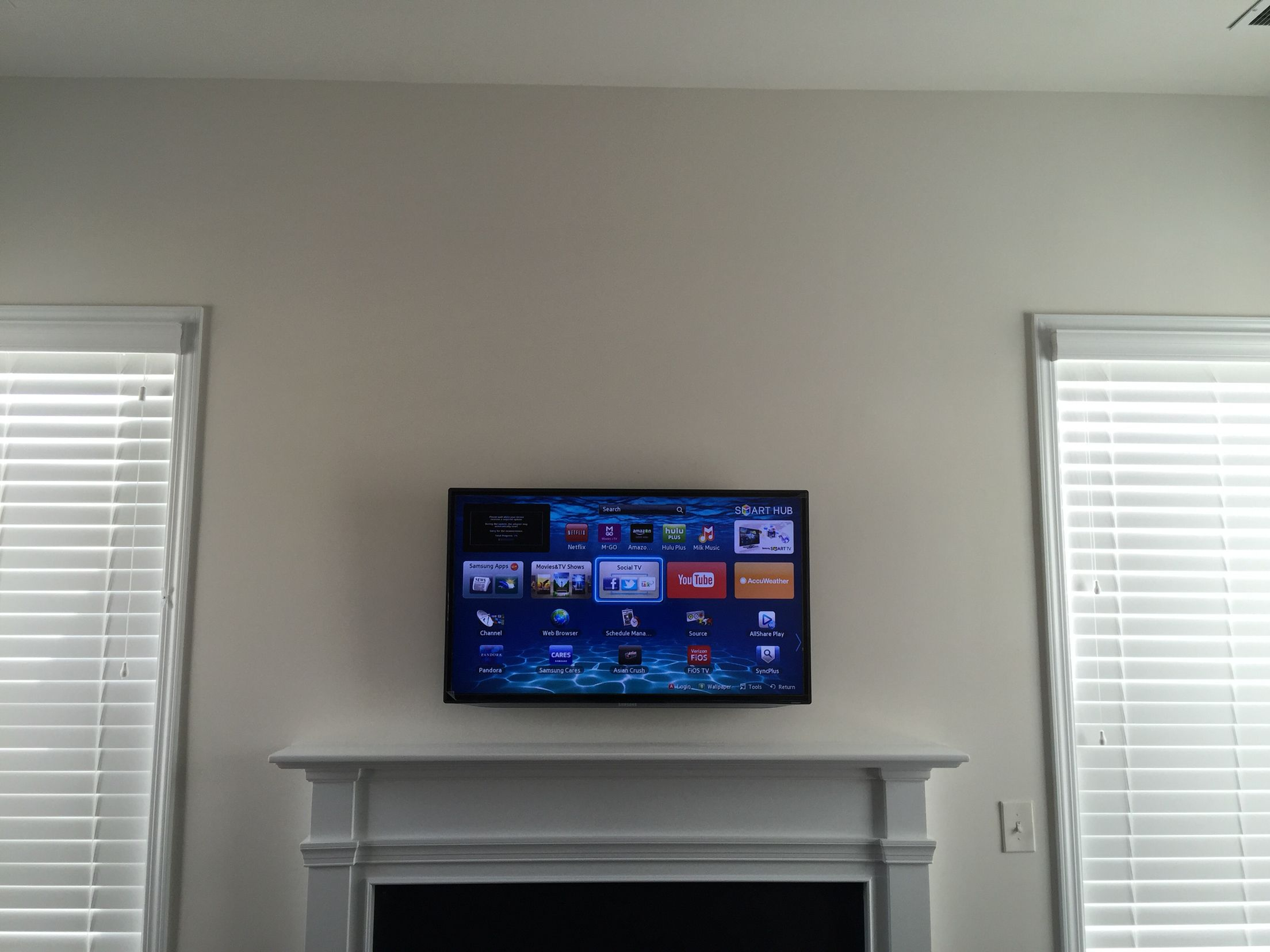 Pin on TV Wall Mounting Service Charlotte Fireplace TV