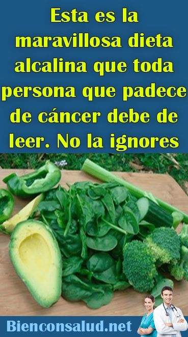 Dieta alcalina cancer chile