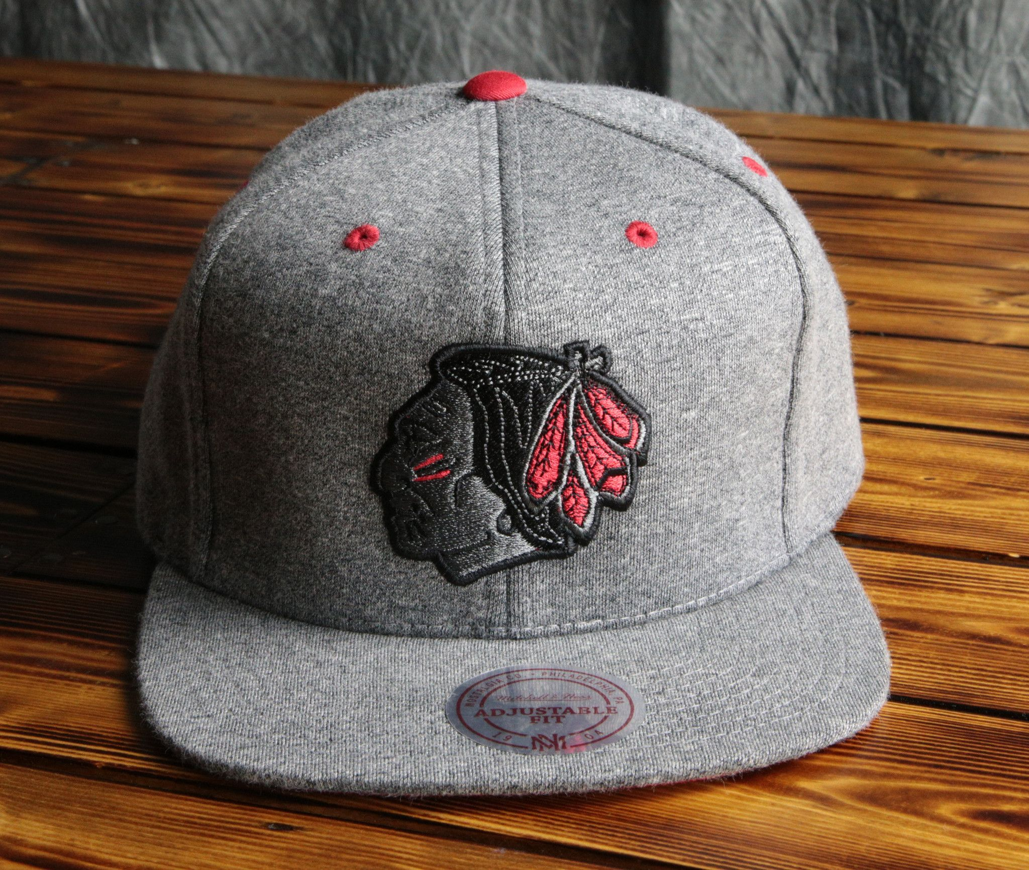 be015d4c403 Chicago Blackhawks Mitchell   Ness Broad Street 2.0 Snapback Hat ...
