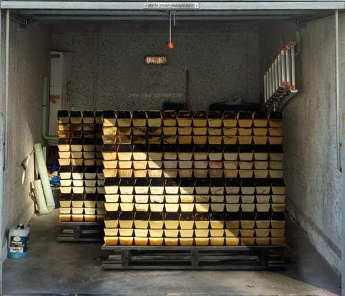 3d Garage Door Cover Don T You Wish Your Garage Was Full Of Gold Bars Garage Doors Door Stickers Cool Garages