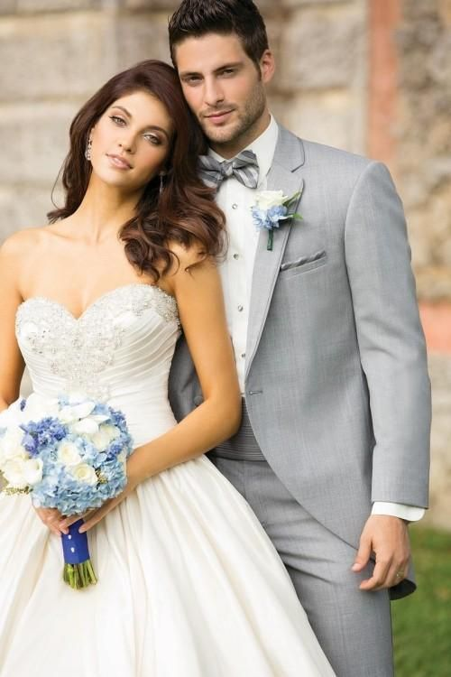 Click to Buy << New Arrivals One Button Light Grey Groom Tuxedos ...