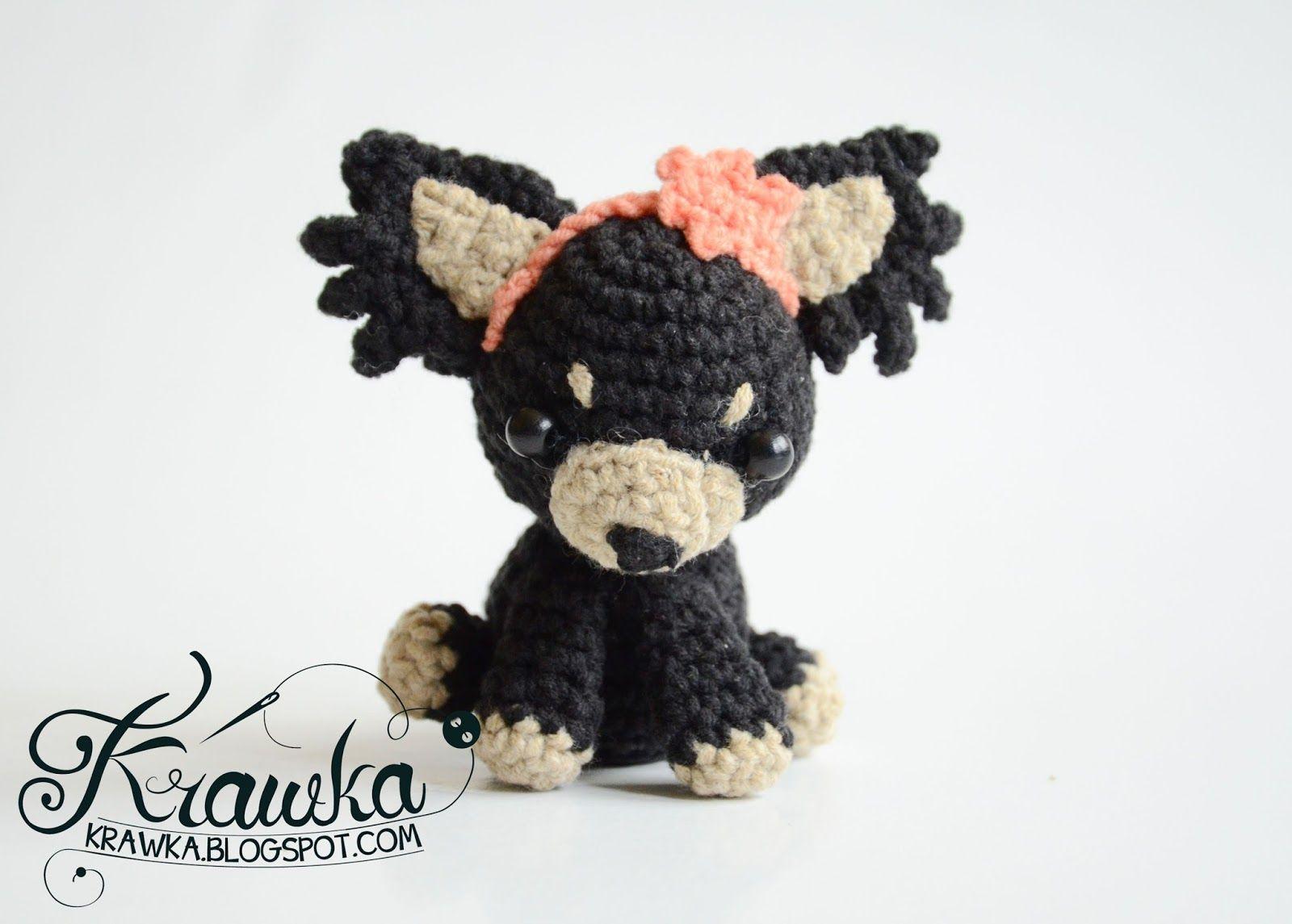 Krawka: Cute crochet dogs wedding gift - russian toy dog, free ...