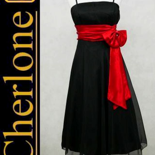 Black And Red Bridesmaid Dress Option