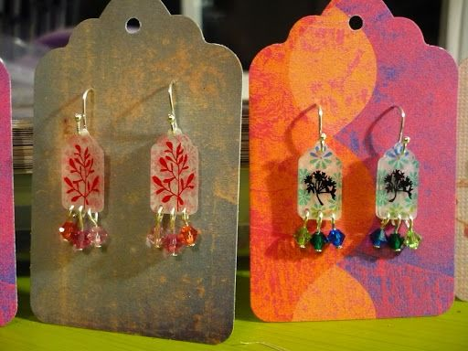 Break out more Shrinky Dinks; It's earring time. - JEWELRY AND TRINKETS