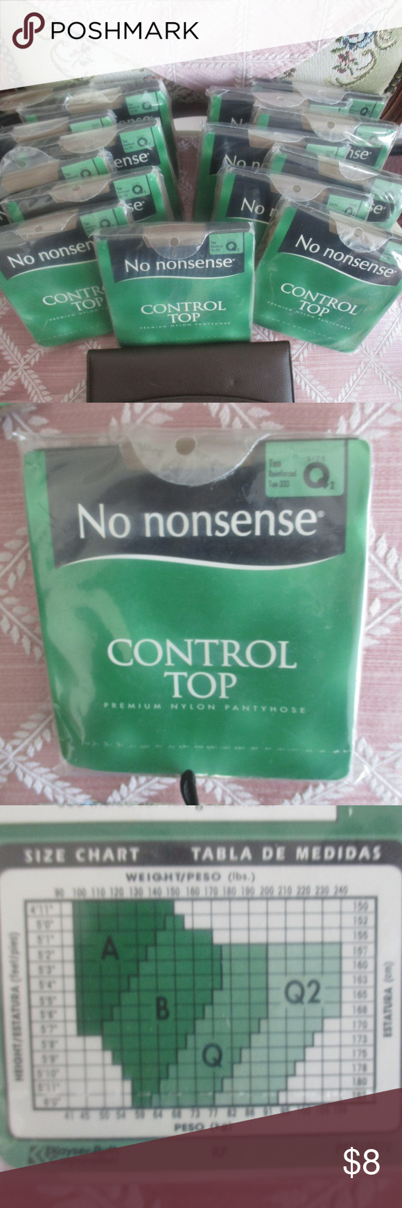 No Nonsense Control Top Pantyhose Sz Q2 Sold Indiv Brand No Nonsense Size Q2 See Size Chart Height Weight In Photo Co Pantyhose Wide Waistband Photo Colour